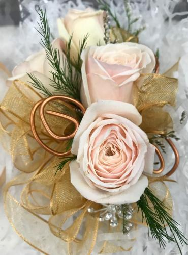 Corsage - Brass Roses