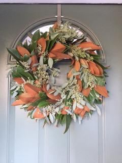 Fresh Magnolia & Seeded Eucalyptus wreath