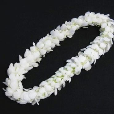 Lei - Double White Orchid