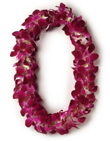 Lei - Double Purple Orchid