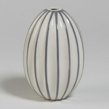 Ribbed Egg Vase